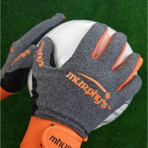 Grey & Orange Gaelic Gloves
