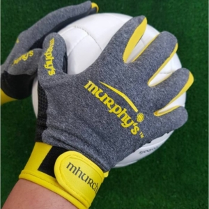 Grey & Yellow Gaelic Gloves