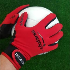 Red Gaelic Gloves