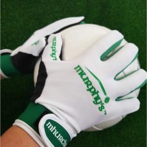 White & Green Gaelic Gloves