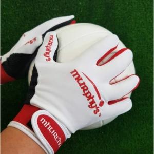 White & Red Gaelic Gloves
