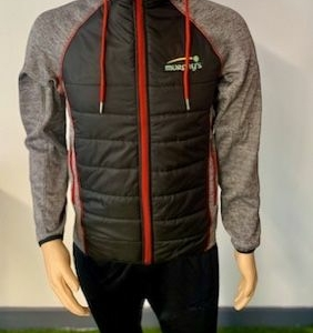 Murphy's padded jacket Black and Red