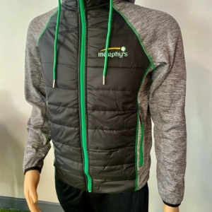 Murphy's padded jacket Black and Green