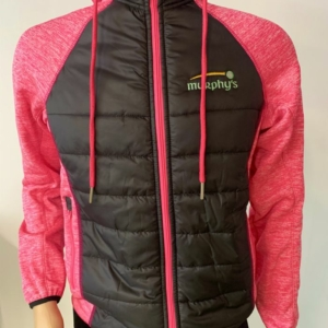 Murphy's padded jacket Black and Pink