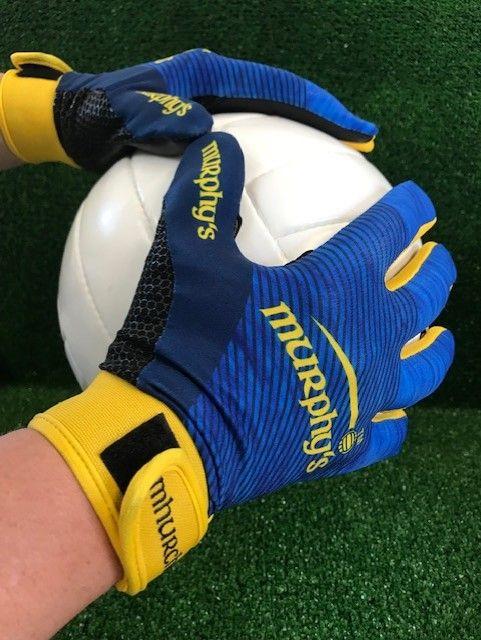 Navy Blue & Yellow Two Tone Gaelic Gloves