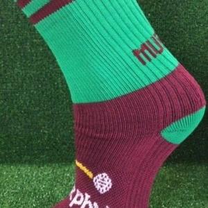 Maroon & Green Gaelic Football Socks
