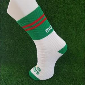 Green & Red Gaelic Football Socks