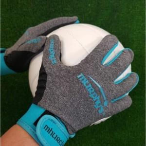 Grey & Sky Blue Gaelic Gloves