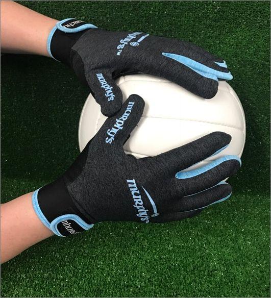 Grey & Sky Melange Gaelic Gloves