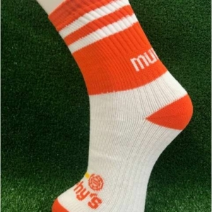 Orange & White Gaelic Football Socks