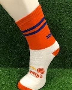 Orange & Blue Football Socks