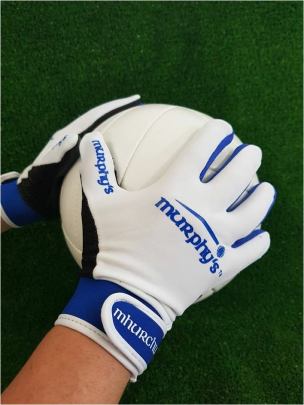 White & Blue Gaelic Gloves