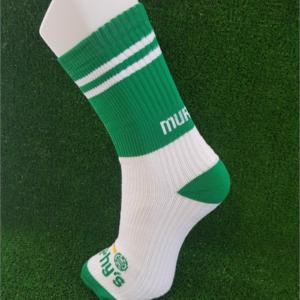 Green & White Gaelic Football Socks